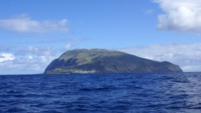 La isla portuguesa de Corvo, en las Azores.