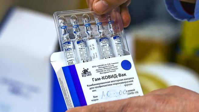 Dosis de la vacuna rusa Sputnik V.