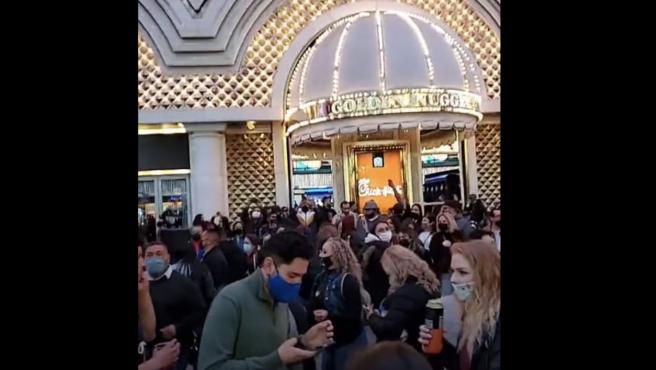 Imagen de un Casino en Las Vegas tras su reapertura