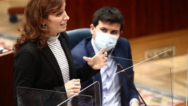 La diputada de Más Madrid en la Asamblea de Madrid, Mónica García.