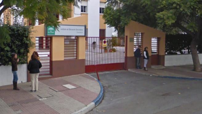 IES Guadalpín, el instituto en el que trabajaba la profesora.