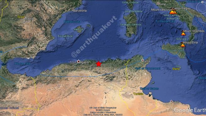 Terremoto en Argelia.