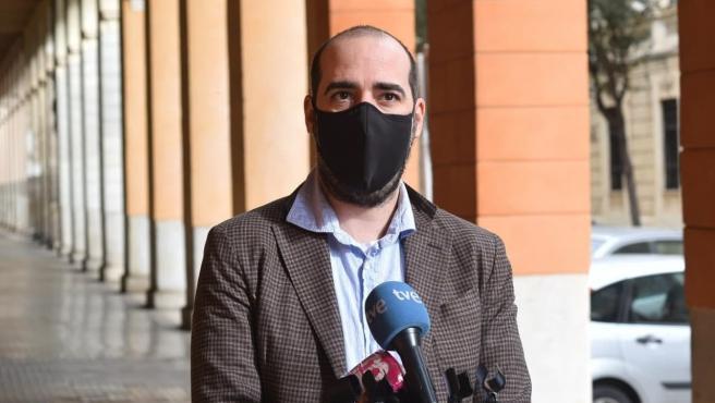 El secretario de organización de Podemos Baleares, Alejandro López.