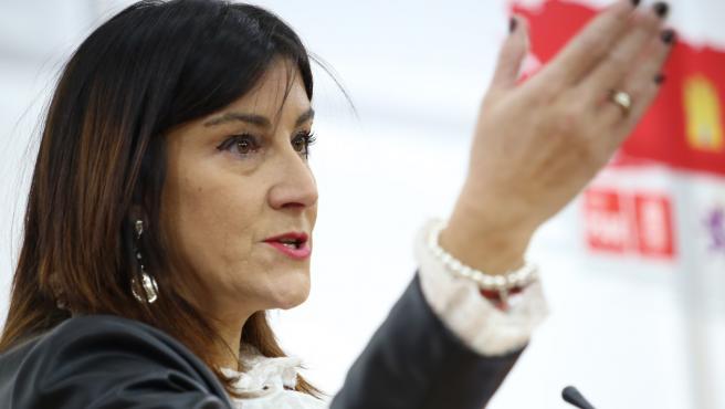 Archivo - La secretaria de Organziación del PSOE, Ana Sánchez, en una imagen de archivo.