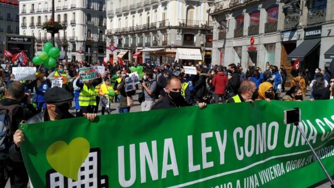 Manifestación por la Ley de Vivienda en Madrid.