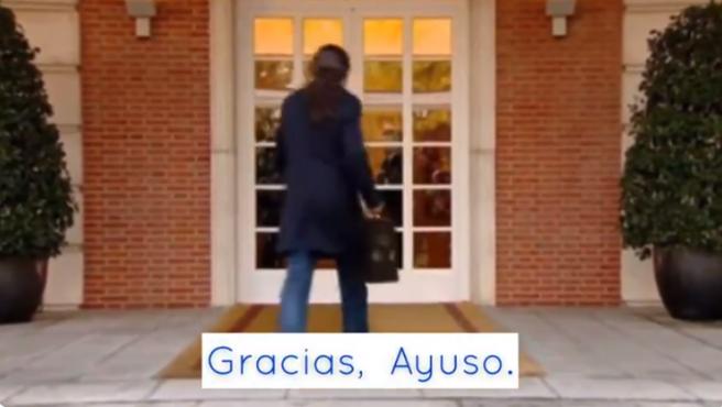 Pablo Iglesias, en el vídeo satírico del PP.