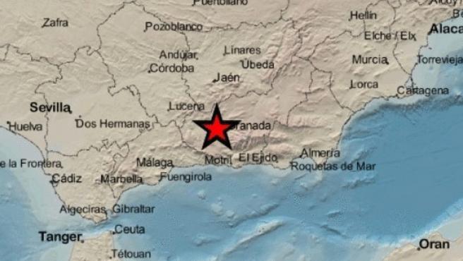 Epicentro de un nuevo terremoto en Granada.