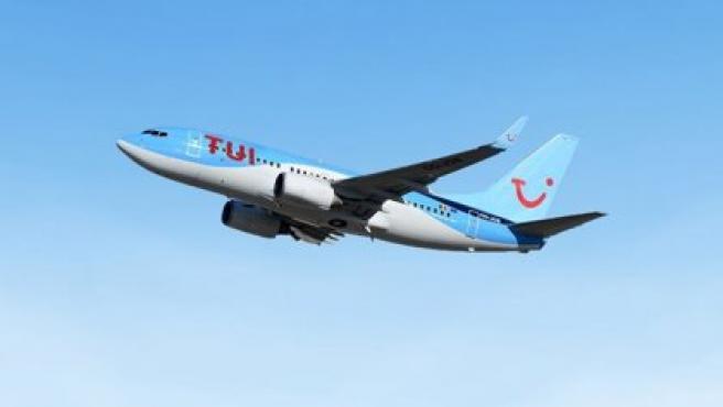 Imagen de archivo de un avión de TUI.