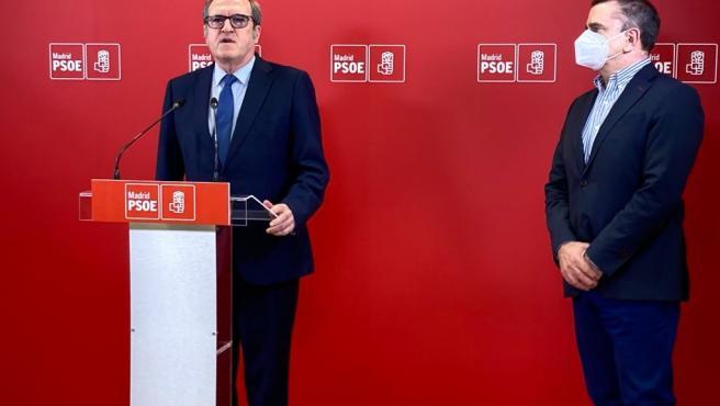 Ángel Gabilondo con el secretario general del PSOE-M José Manuel Franco