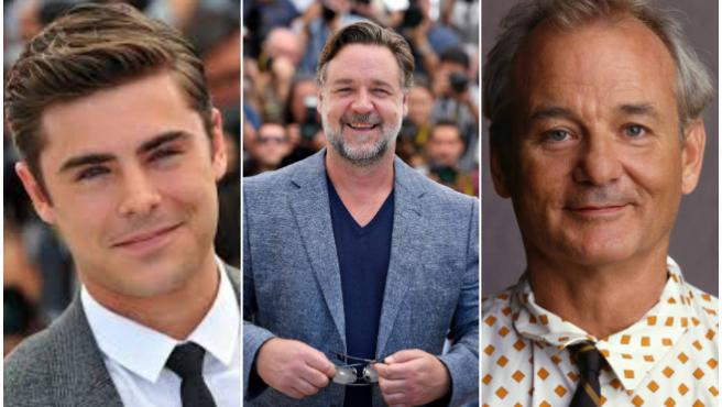 Zac Efron, Russell Crowe y Bill Murray.