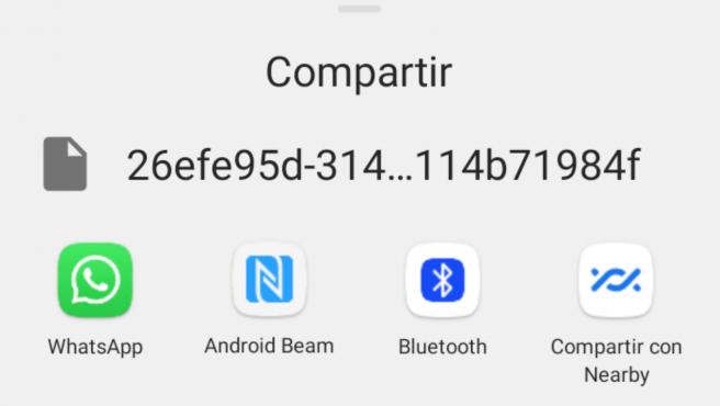 Puedes compartir tu audio con las aplicaciones disponibles en tu teléfono.