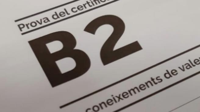Archivo - Arxive - Una prova del nivell B2 de valencià