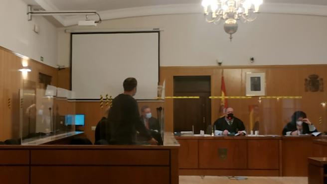 El presunto pedófilo, durante el juicio celebrado en la Audiencia de Valladolid.