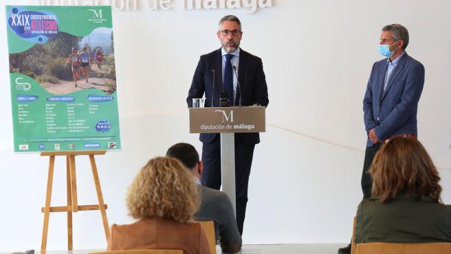 El vicepresidente primero y diputado de Educación, Juventud y Deportes de la Diputación de Málaga, Juan Carlos Maldonado.
