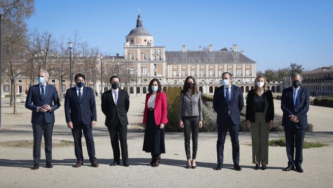 Isabel Díaz Ayuso en el Consejo de Gobierno en Aranjuez