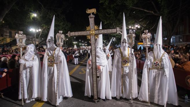 Cruz Guía de la Cofradía del Cautivo, en Málaga.