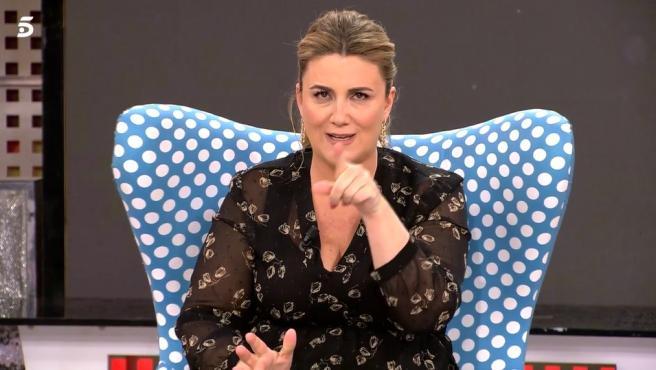 Carlota Corredera, presentadora de 'Sálvame'.