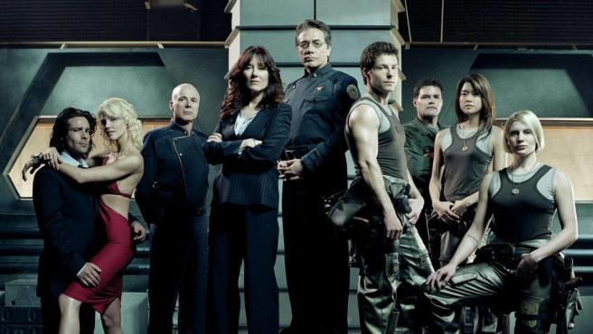 Los protagonistas de 'Battlestar Galactica'.