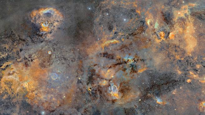 Detalle de la imagen gigante de la Vía Láctea.
