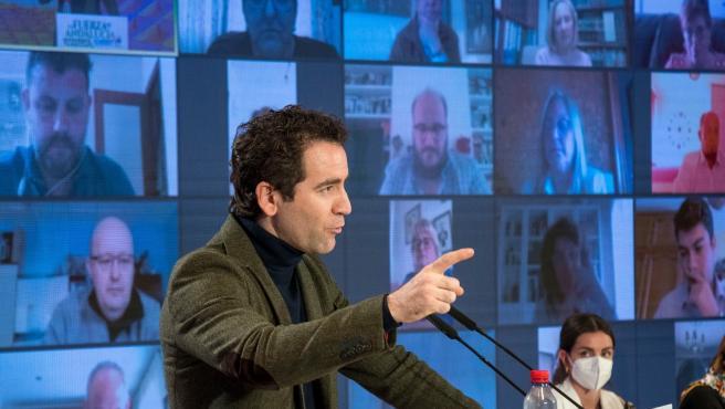 El secretario general del PP, Teodoro García Egea, en el congreso del PP de Sevilla