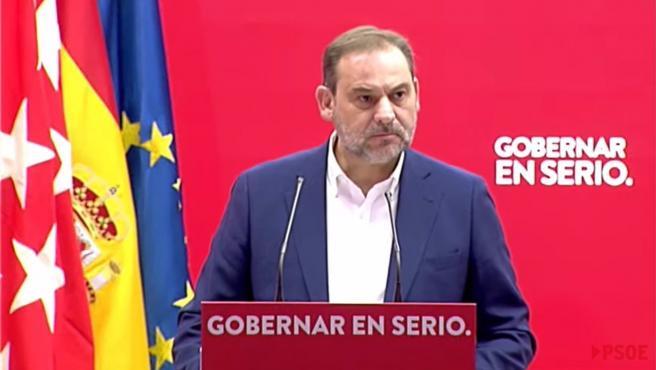 El ministro de Transportes, Movilidad y Agenda Urbana, José Luis Ábalos, en un acto sobre vivienda.
