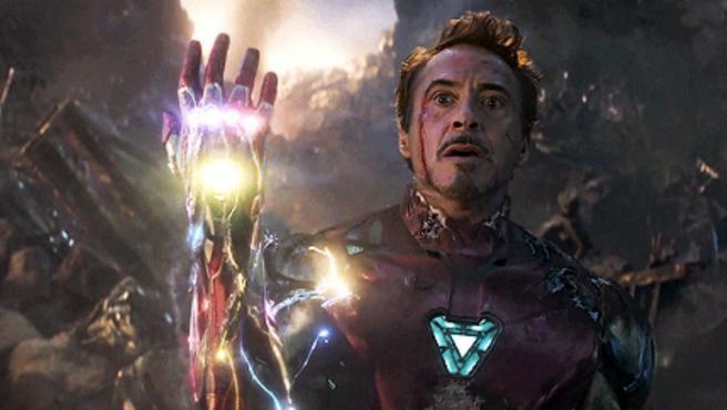 Robert Downey Jr. como Iron Man en 'Vengadores: Endgame'
