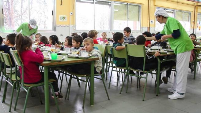 Archivo - Comedor escolar.