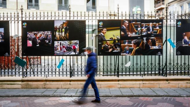 Exposición sobre la historia del Parlamento Vasco