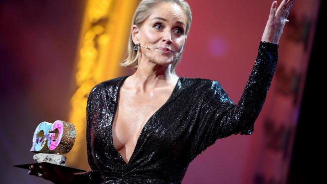 Sharon Stone, en los premios GQ de 2019, en Berlín.
