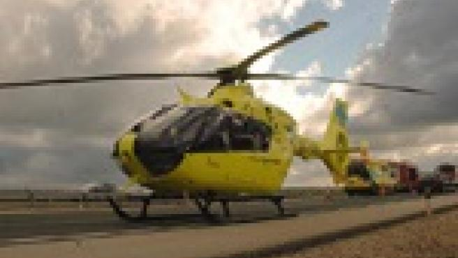Evacuado en helicóptero un niño de 10 años tras caerse del monopatín en Estación de Valle del Sol (Burgos)