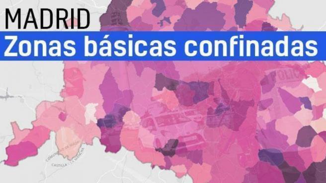 La Comunidad de Madrid amplia desde este lunes restricciones de movilidad a seis zonas básicas de salud (ZBS) y tres localidades, por lo que un total de 11 zonas y 10 localidades están cerradas perimetralmente en la región.
