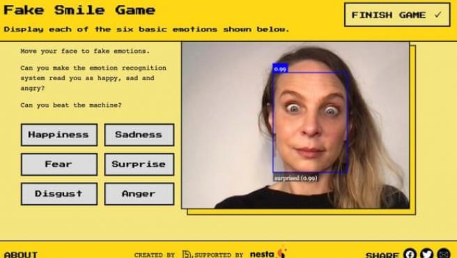 El sitio web Emojify demuestra la tecnología de reconocimiento de emociones de IA.