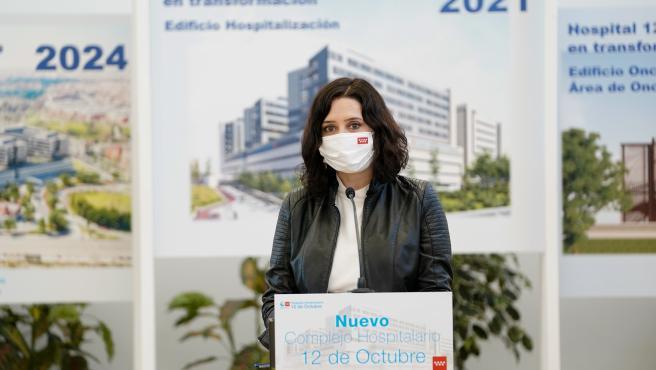Isabel Díaz Ayuso at the Hospital 12 de Octubre