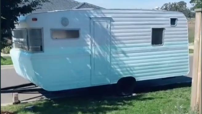 La caravana de Spencer.