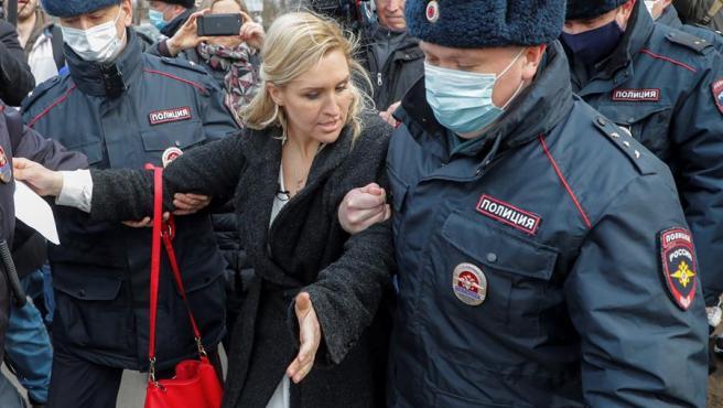 La doctora Anastasia Vasilyeva, presidenta del sindicato Doctor's Alliance y partidaria de Navalny