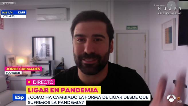 Jorge Cremades, youtuber, en el programa 'Espejo público'.