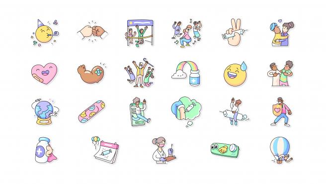 El nuevo paquete incluye 24 stickers para usar en la app.