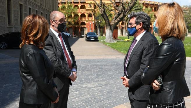 """Escrivá:""""El Ministerio y el Gobierno aragonés siguen avanzando en el despliegue de IMV con los itinerarios de inclusión"""""""