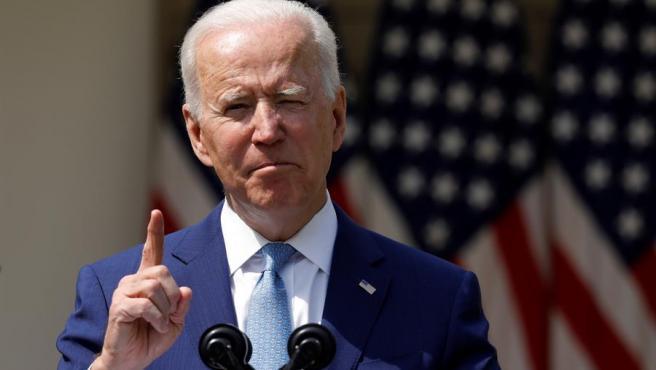 Joe Biden durante su comparecencia este jueves.