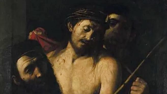 Detalle del posible Caravaggio, que representa un ecce homo.