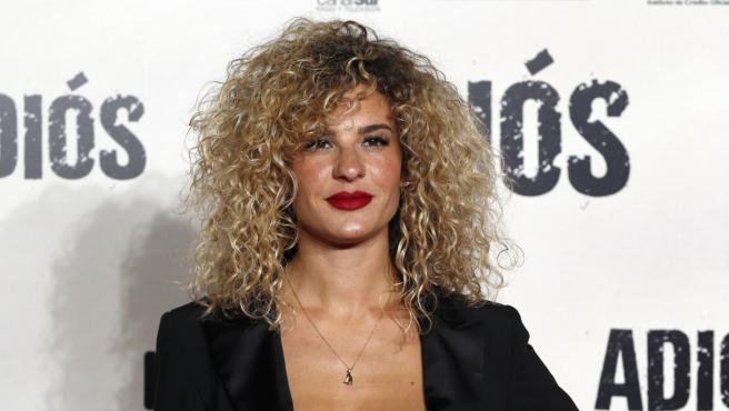 Sheila Casas en la premier de 'Adiós'.