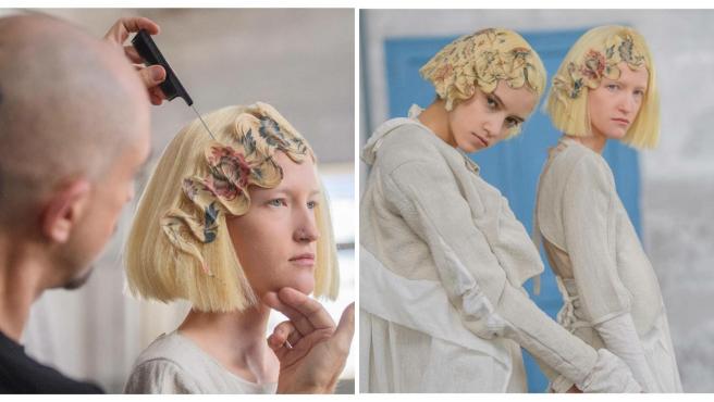 Alexis Ferrer lleva desde 2012 desarrollando su técnica de impresión para el cabello