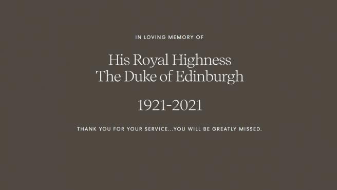 Harry y Meghan rinden homenaje al príncipe de Edimburgo en su página web.