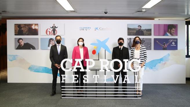 Jaume Masana, Maria Lluïsa Martínez, Juli Guiu y Maria Alsina, en la presentación del Festival de Cap Roig
