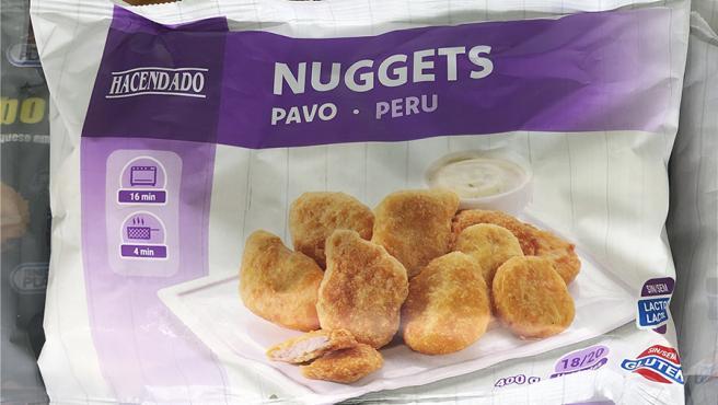 Los Nuggets de Pavo sin gluten y sin lactosa, disponibles en Mercadona.