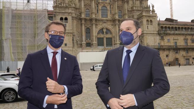 Reunión José Luis Ábalos, Ministro de Transportes y Alberto Núñez Feijoó, Presidente de la Xunta