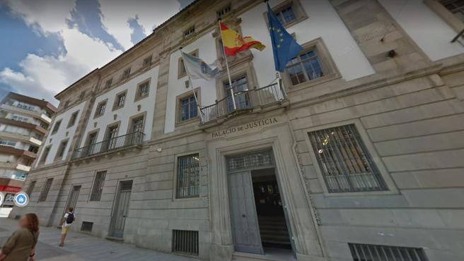 Exterior de la Audiencia Provincial de Pontevedra.