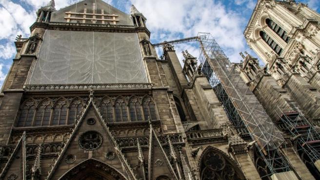 Notre Dame durante las obras.