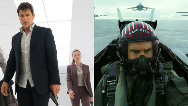 Fotogramas de 'Misión Imposible: Fallout' y 'Top Gun: Maverick'