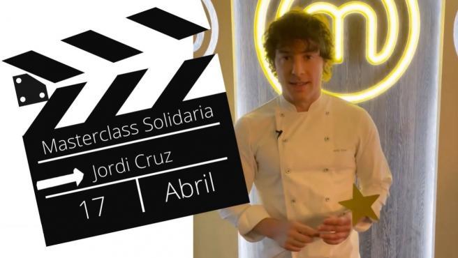 El chef Jordi Cruz dará una 'masterclass' solidaria para la Fundación Pequeño Deseo.